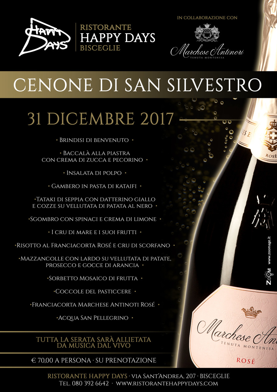 Cenone di S. Silvestro · 31 Dicembre 2017