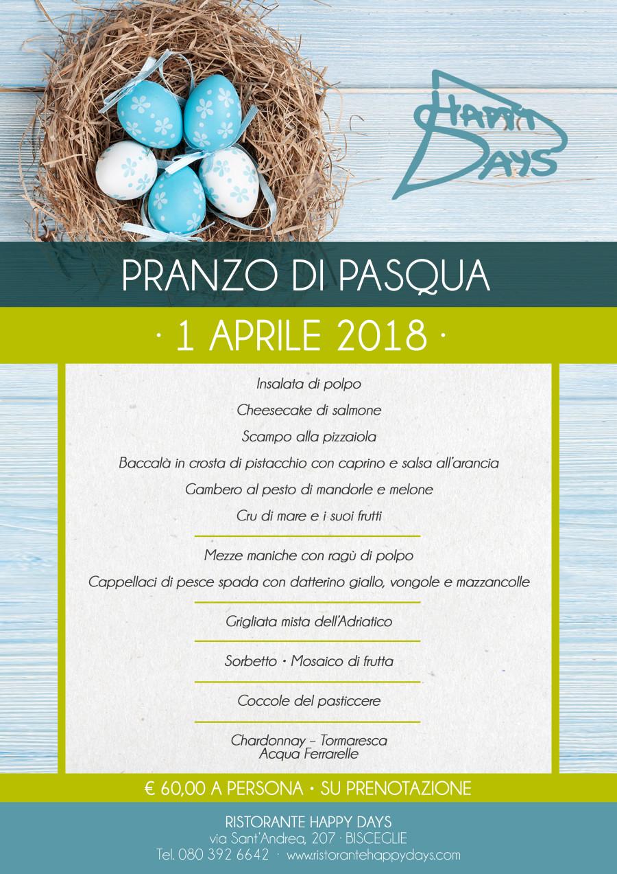 Pranzo di Pasqua – 1 Aprile 2018