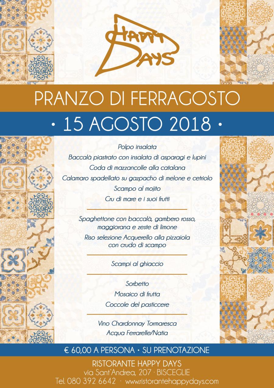 Pranzo di Ferragosto · 15 Agosto 2018