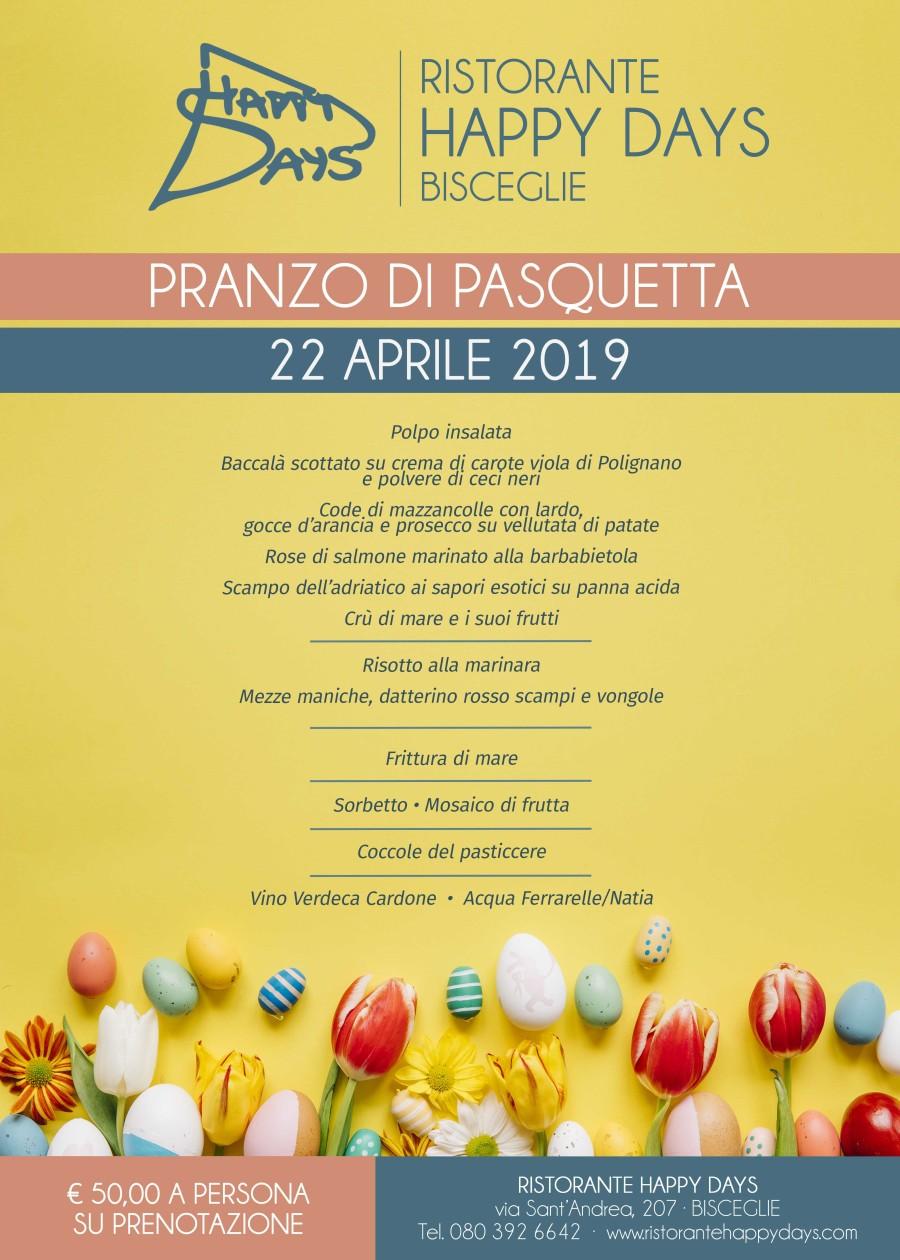 Pranzo di Pasqua – 21 Aprile 2019