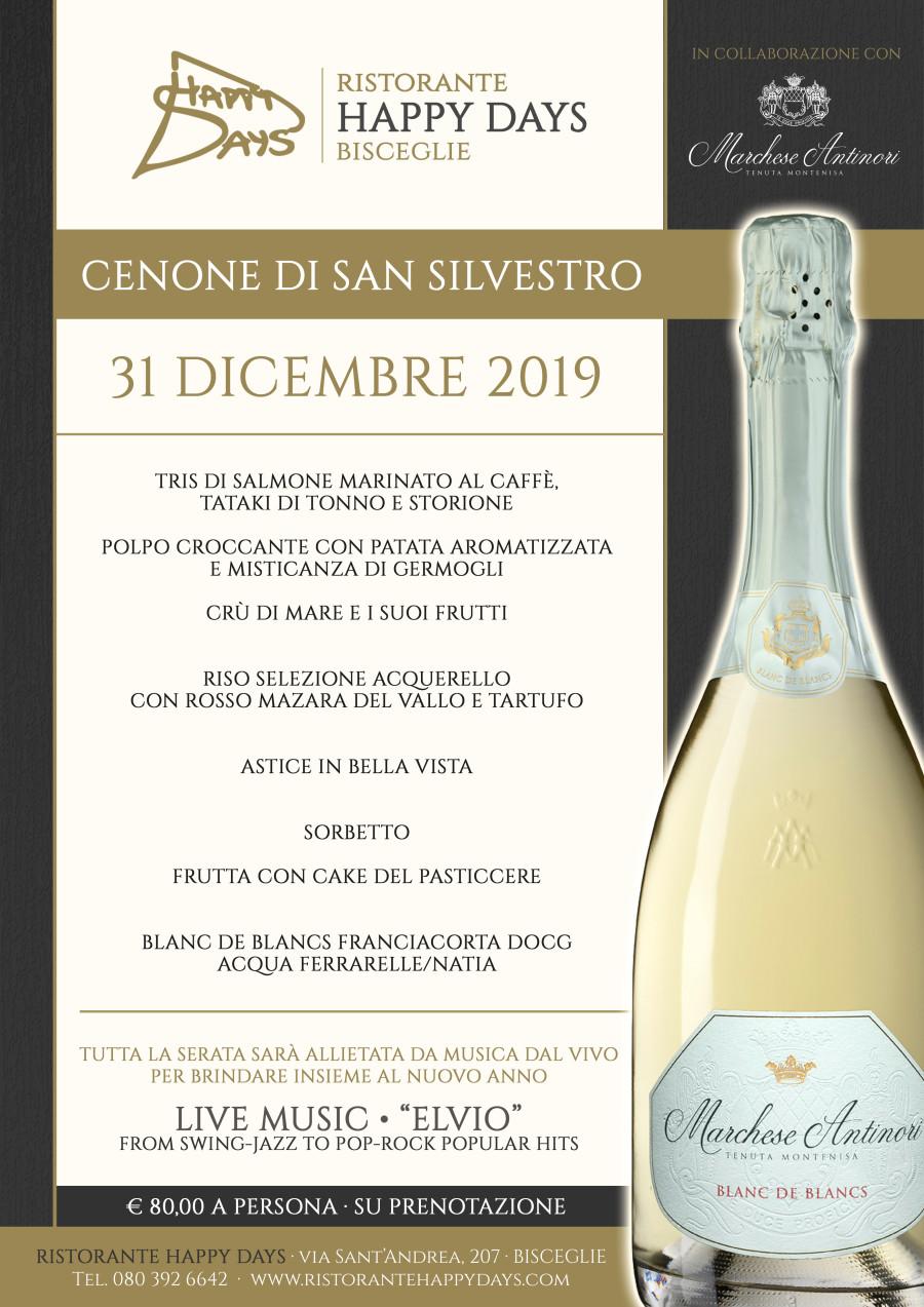 Cenone di S.Silvestro – 31 Dicembre 2019
